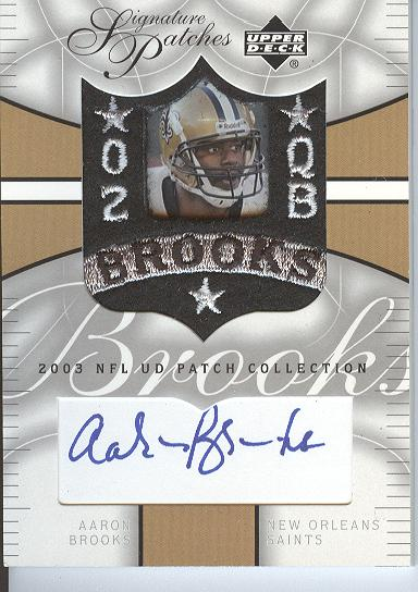 2003 UD Patch Collection Signature Patches #SPAB Aaron Brooks