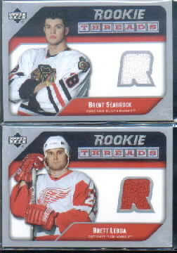 2005-06 Upper Deck Rookie Threads #RTBS Brent Seabrook