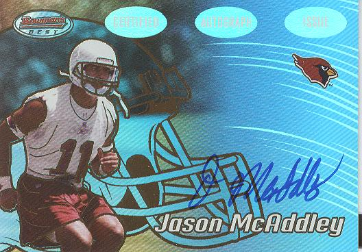 2002 Bowman's Best Gold #138 Jason McAddley AU