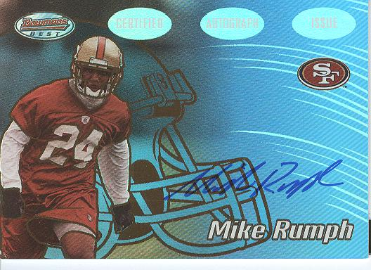 2002 Bowman's Best Gold #154 Mike Rumph AU