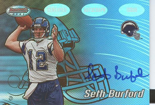 2002 Bowman's Best Gold #163 Seth Burford AU