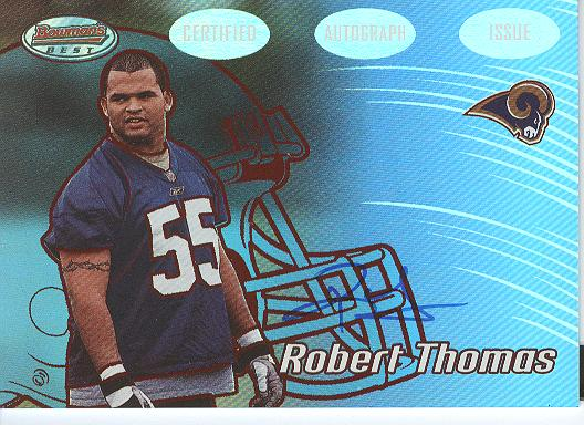 2002 Bowman's Best Red #119 Robert Thomas AU