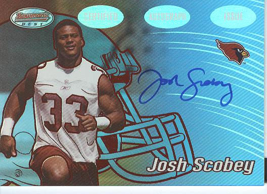 2002 Bowman's Best Red #143 Josh Scobey AU