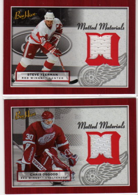 2005-06 Beehive Matted Materials #MMSY Steve Yzerman