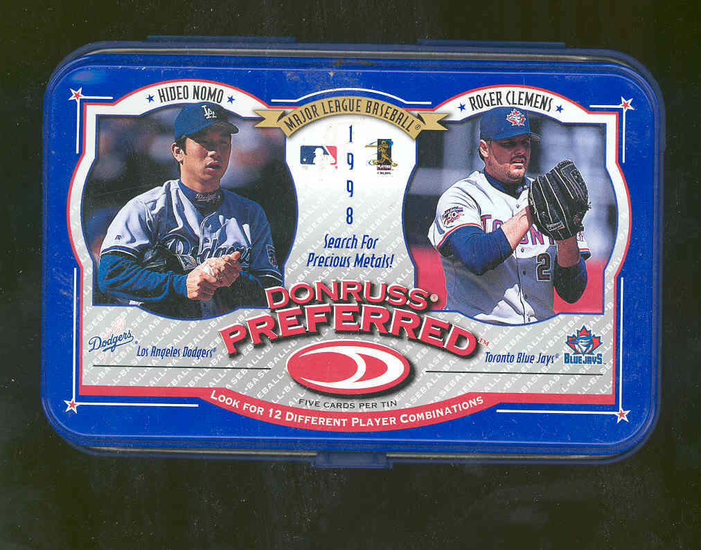 1998 Donruss Preferred Tin Packs Double-Wide #7 H.Nomo/R.Clemens