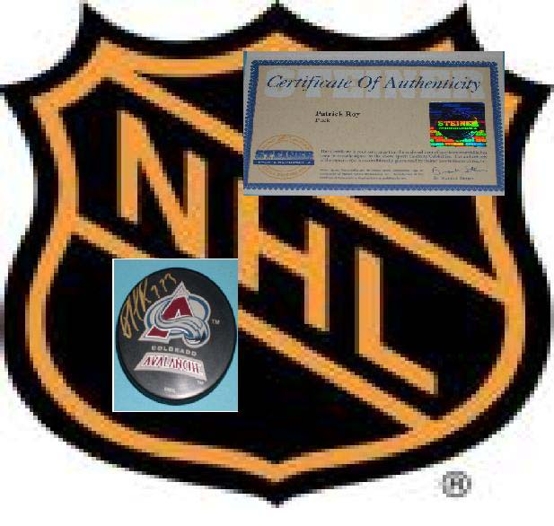 Patrick Roy Signed Official NHL Puck Steiner Certification #006774