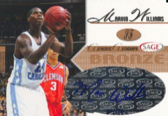 2005 SAGE Autographs Bronze #A28 Marvin Williams/150