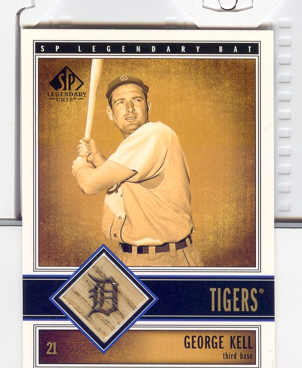 2002 SP Legendary Cuts Game Bat #BGKE George Kell
