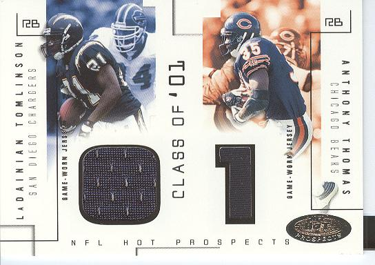 2002 Hot Prospects Class Of Memorabilia #LTAT LaDainian Tomlinson/Anthony Thomas