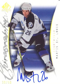 2005-06 SP Authentic Chirography #SPSL Martin St. Louis