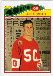 2005 Topps Heritage #55B Alex Smith QB TBJ SP