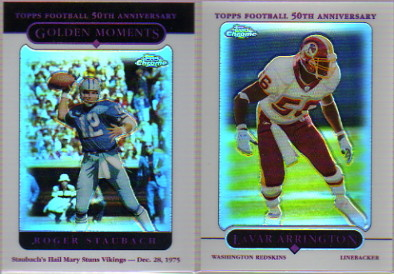 2005 Topps Chrome Refractors #165 Roger Staubach GM