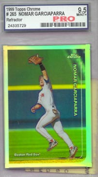 1999 Topps Chrome Baseball #265R Nomar Garciaparra Refractor Pro Mint+ 9.5 AWESOME!!