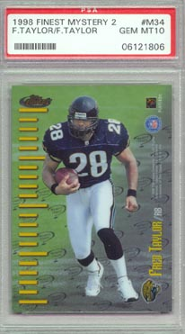 1998 Topps Finest Football #M34 Fred Taylor Mystery Finest Series 2 PSA Gem MINT 10 JAGUARS NICE!!!