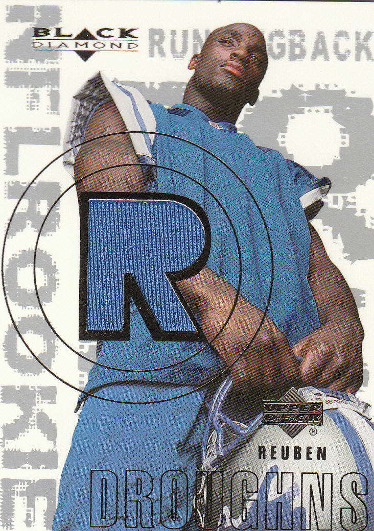 2000 Black Diamond #161 Reuben Droughns JSY RC