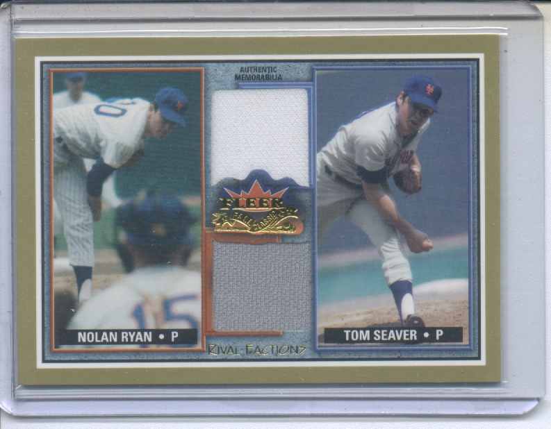 2002 Fleer Fall Classics Rival Factions Game Used Dual #16 Nolan Ryan Jsy/Tom Seaver Pants