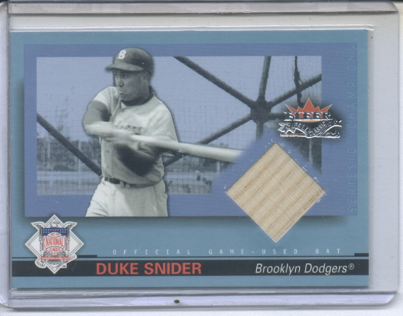 2002 Fleer Fall Classics Series of Champions Game Used #DS Duke Snider Bat
