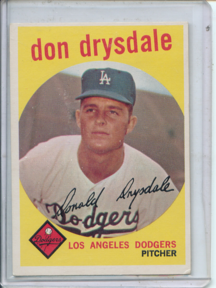 1959 Topps #387 Don Drysdale