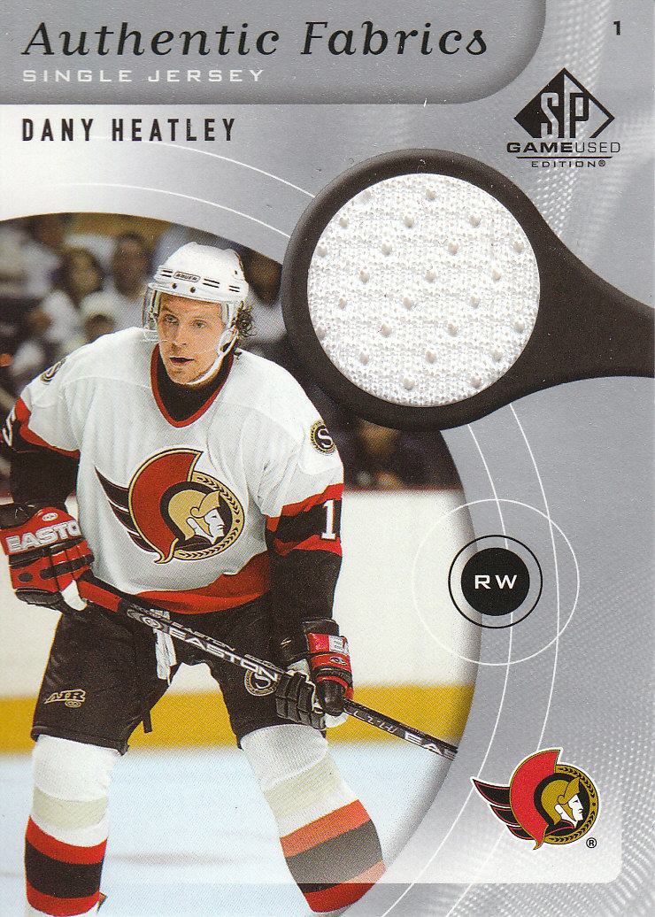 2005-06 SP Game Used Authentic Fabrics #AFDH Dany Heatley front image