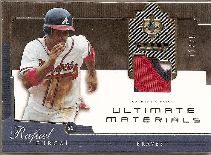 2005 Ultimate Collection Materials Patch #RF Rafael Furcal/25