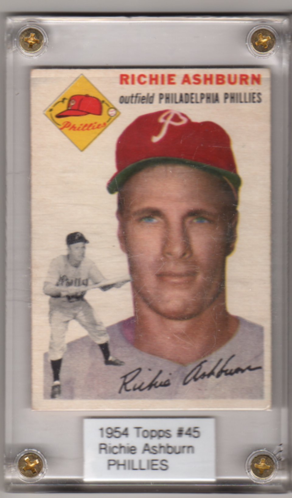 1954 Topps #45 Richie Ashburn