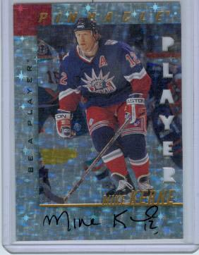1997-98 Be A Player Autographs Prismatic Die Cut #101 Mike Keane
