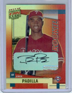 2002 Donruss Best of Fan Club Autographs #255 Jorge Padilla/450