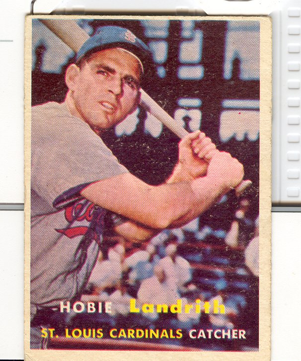 1957 Topps #182 Hobie Landrith