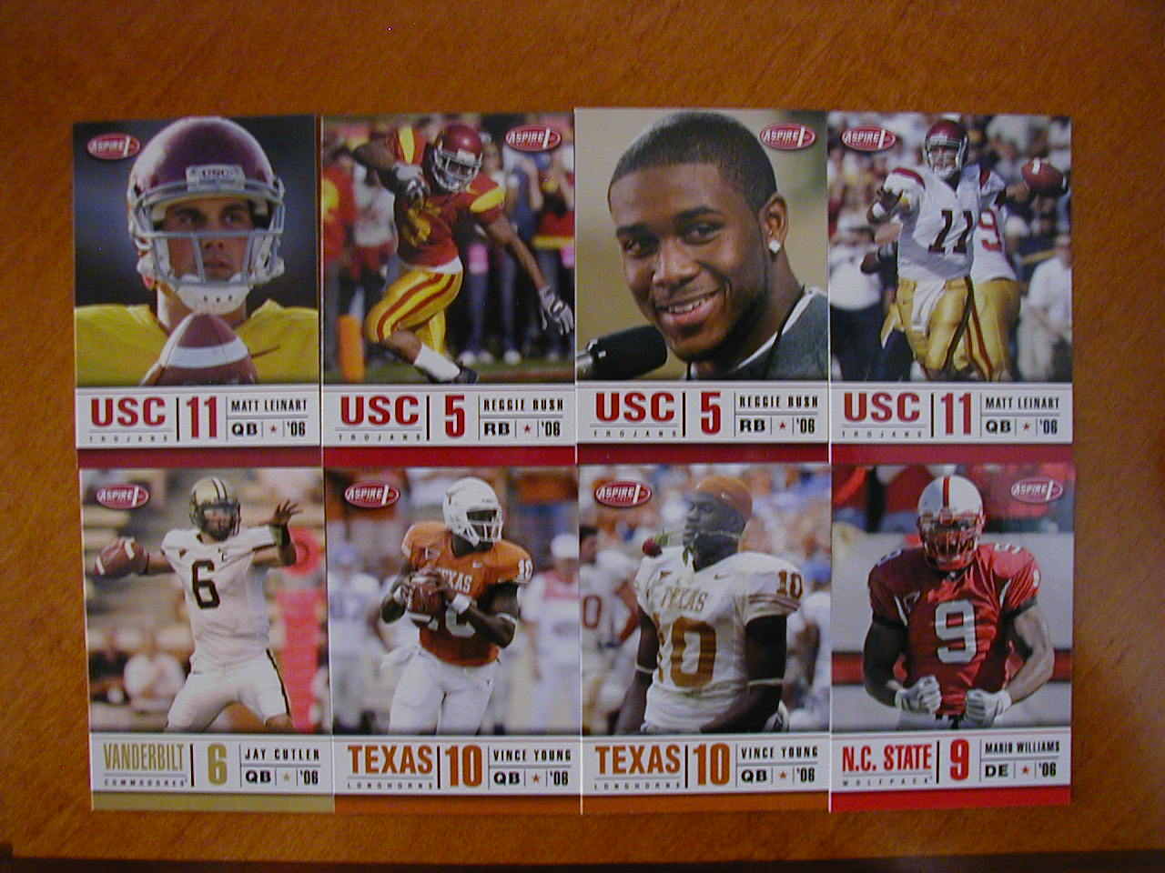 2006 Sage Aspire Football 36 Card Set