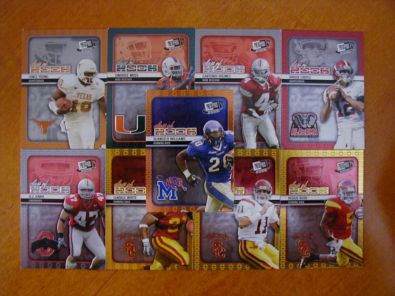 2006 Press Pass SE Class of 2006 Football 9 Card Insert Set