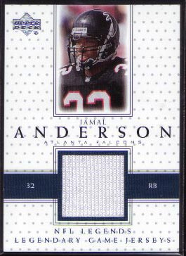 2000 Upper Deck Legends Legendary Jerseys #LJ-JA, Jamal Anderson