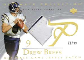 2003 Ultimate Collection Game Jersey Patches #GJPDB2 Drew Brees/99