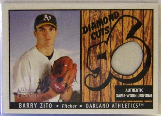 2003 Bowman Heritage Diamond Cuts Relics #BZ Barry Zito Uni