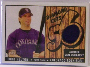 2003 Bowman Heritage Diamond Cuts Relics #TH Todd Helton Jsy A