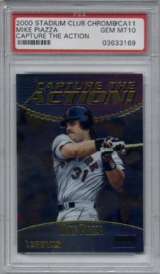 2000 Stadium Club Chrome Baseball #CA11 Mike Piazza Capture the Action PSA Gem Mint 10 INCREDIBLE!!