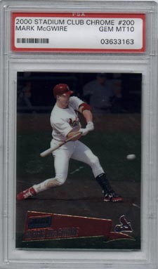 2000 Stadium Club Chrome Baseball #200 Mark McGwire Gem Mint PSA 10 AWESOME!!