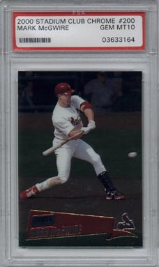 2000 Stadium Club Chrome Baseball #200 Mark McGwire PSA Gem Mint 10