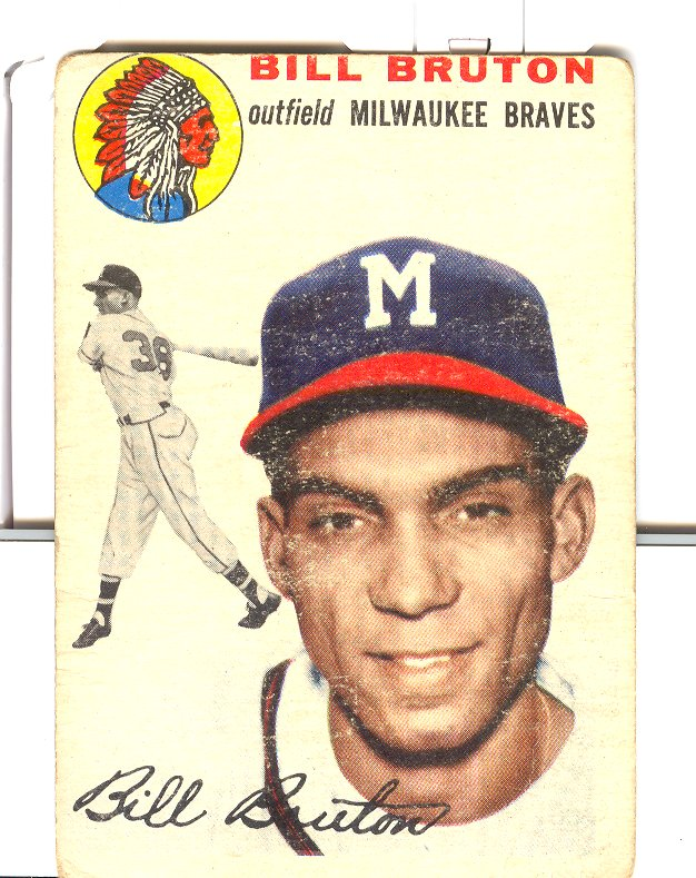 1954 Topps #109 Bill Bruton
