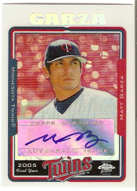 2005 Topps Chrome Update Refractors #227 Matt Garza FY AU