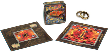 Lord of the Rings Checkers/Tic-Tac-Toe Combo Game