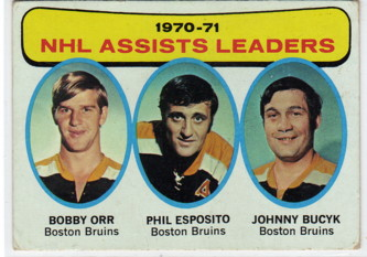 1971-72 Topps #2 Assists Leaders/Bobby Orr/Phil Esposito/Johnny Bucyk