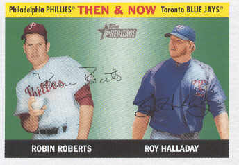 2004 Topps Heritage Then and Now #TN4 R.Roberts/R.Halladay front image