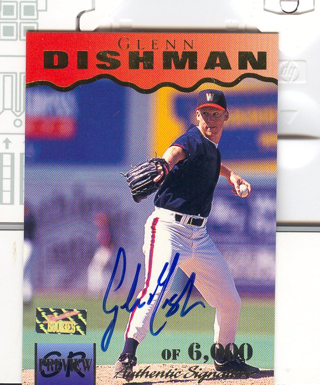 1995 Signature Rookies Previews Signatures #8 Glenn Dishman