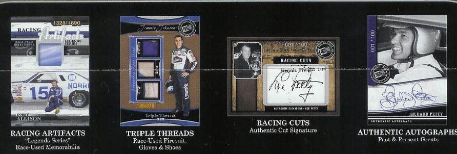 2006 Press Pass Legends Racing Factory Sealed Hobby Box (3 Autograph or Memorabilia Cards per Box) (Random Cut Signature Cards)
