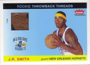 2004-05 Fleer Tradition Rookie Throwback Threads Ball #15 J.R. Smith