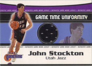 2000-01 Fleer Game Time Uniformity #18 John Stockton