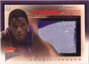 2002-03 Fleer Platinum Freshman Fabric #KR Kareem Rush
