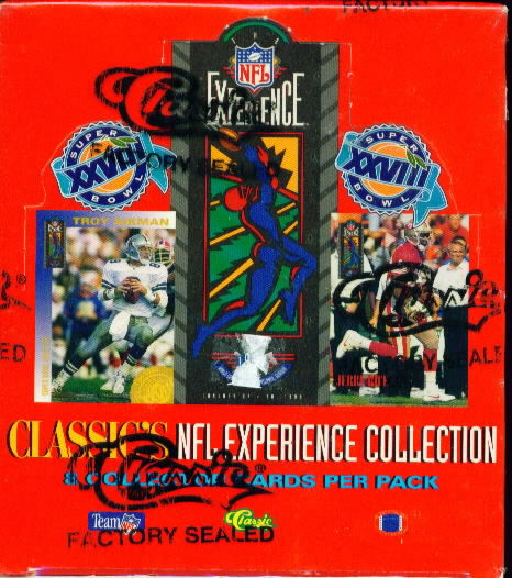 1993 Classic Experience Football Sealed Hobby Box