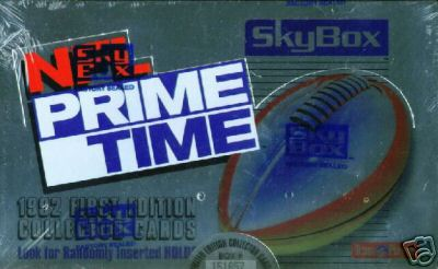 1992 Skybox NFL Prime Time Football Sealed Hobby Box