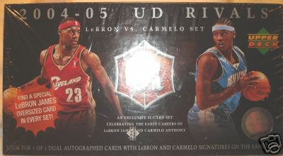 2004- 2005 UD Rivals Upper Deck Lebron VS. Carmelo Sealed Box Set